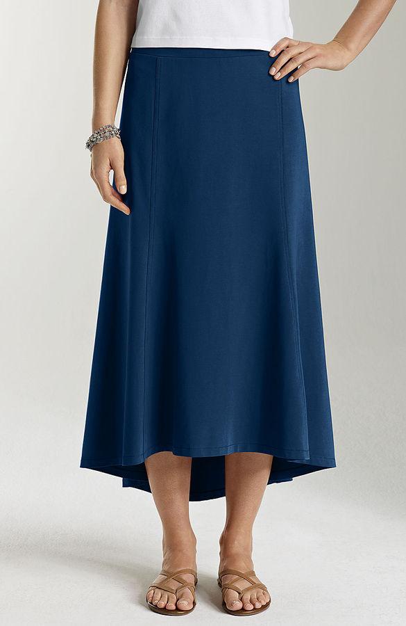 J. Jill Pima-stretch elliptical skirt
