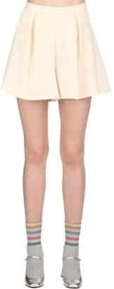 L'Autre Chose Wool Crepe Shorts