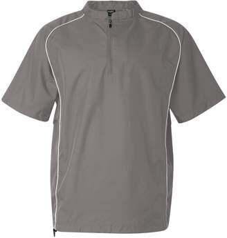 Rawlings Sports Accessories Short Sleeve 1/4 Zip Pullover, 3XL, Steel