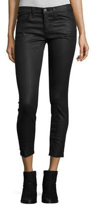 Current/Elliott The Stiletto Coated Jeans, Black