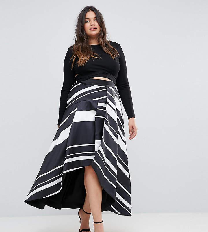 Coast Plus Striped Maxi Skirt