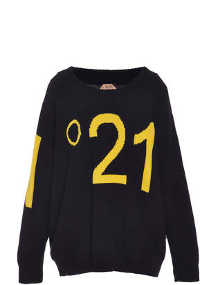 N°21 N 21 Marcia Cotton-Blend Logo Sweater