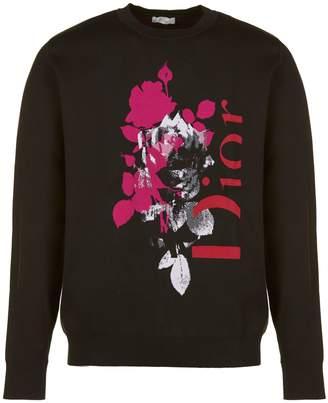 Christian Dior Logo Print Sweater