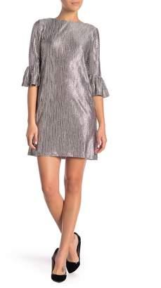 London Times Printed Sequin Knit Shift Dress (Petite)