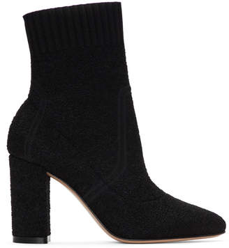 Gianvito Rossi Black Boucle Ankle Boots