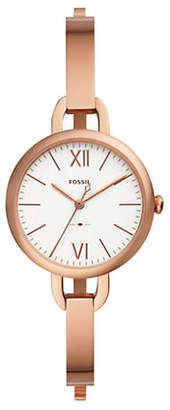 Fossil Annette Three-Hand Rose Goldtone Stainless Steel Watch