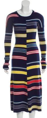 Kenzo Long Sleeve Midi Dress