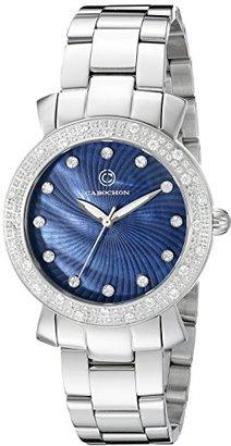 Cabochon レディース 16604 – 33 Carmelアナログ表示クォーツシルバー腕時計