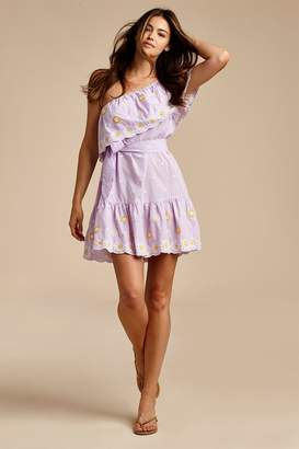 Miguelina Summer Daisy Broderie Anglaise Mini Dress