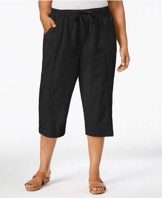 Karen Scott Plus Size Cotton Capri Pants, Created for Macy's