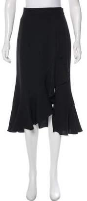 Prabal Gurung Midi Flounce Skirt w/ Tags