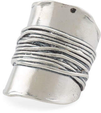 Made In Israel Sterling Silver Wrapped Knuckle Ring