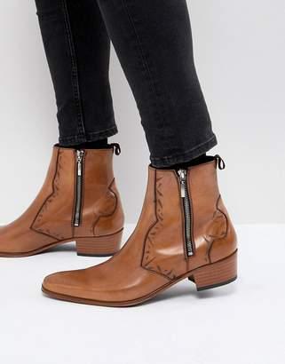 Jeffery West Carlito chelsea boots in tan