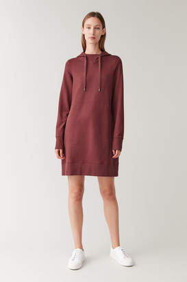Cos HOODED COTTON DRESS