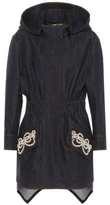 Fendi Embellished denim coat