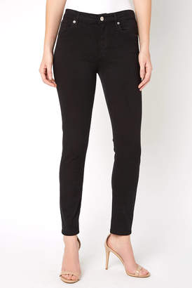 A Gold E Agolde AGOLDE Sophie Jet High Rise Crop Skinny Jean