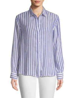 Rails Sydney Striped Linen-Blend Top