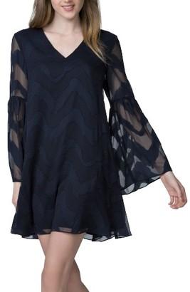 Women's Donna Morgan Jacquard Chiffon Swing Dress $128 thestylecure.com