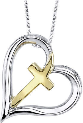 Silver Cross FINE JEWELRY Inspired Moments Sterling Heart Pendant Necklace