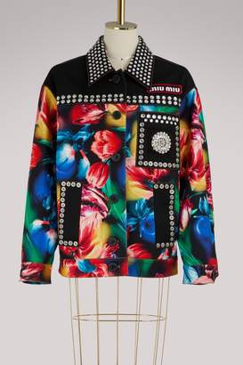 Miu Miu Crystals printed jacket