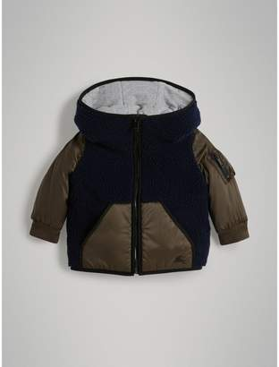 Burberry Faux Shearling Panelled Hooded Jacket
