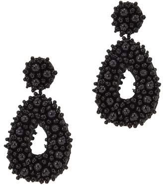 BaubleBar Melanya Black Beaded Drop Earrings