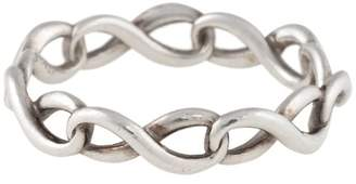 Tiffany & Co. Sterling Silver Twisted Infinity Band Ring Size 6.75