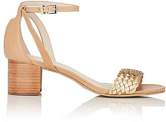 Barneys New York WOMEN'S SAMMY LEATHER ANKLE-STRAP SANDALS