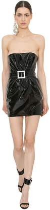 Alexandre Vauthier Strapless Patent Leather Mini Dress