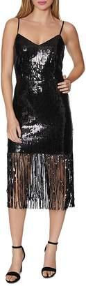 Laundry by Shelli Segal Sequined Fringe Sheath Dress