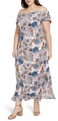 Rachel Roy Wonderlust Off the Shoulder Maxi Dress