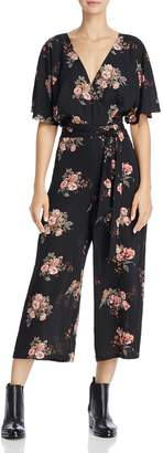 June & Hudson V-Neck Floral Print Jumpsuit - 100% Exclusive