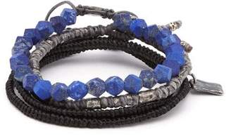 M. Cohen The Create Stack Ii Bead Embellished Bracelet - Mens - Blue