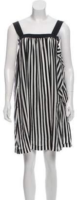 Miu Miu Striped Silk Dress