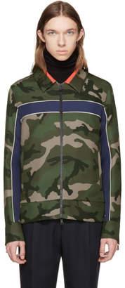 Valentino Green Camo Stripe Jacket