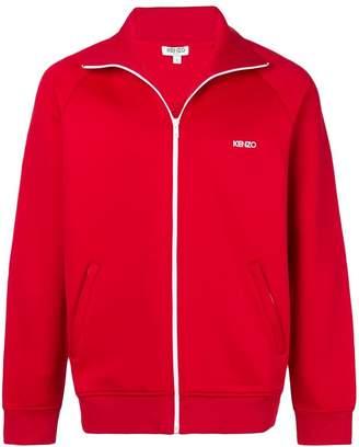 Kenzo logo embroidered zip sweatshirt