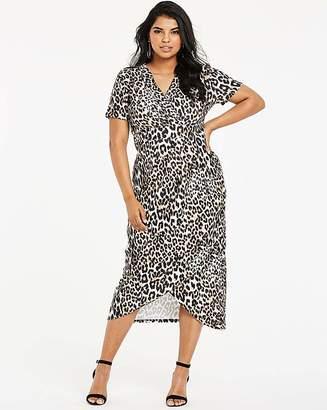Quiz Curve Animal Print Wrap Dress