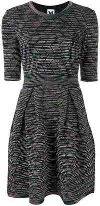 M Missoni fitted round neck dress
