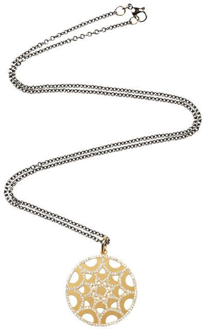 Ileana Makri 18-karat gold diamond star pendant necklace
