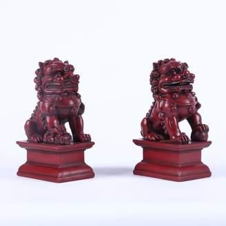 Hi-Line Gift Ltd. Foo Dog 2 Piece Male and Female Statue Set