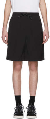 Alexander Wang Black Classic Black Piped Shorts