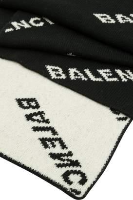 Balenciaga Intarsia Knit Scarf