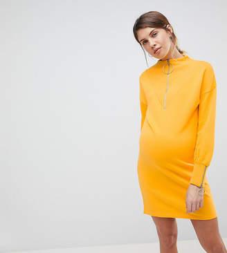 Asos (エイソス) - ASOS Maternity - Nursing ASOS MATERNITY NURSING Sweat Dress with Ring Zip