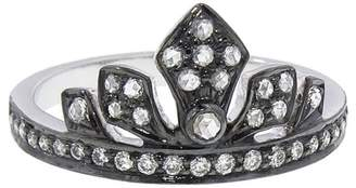 Sethi Couture Enchanted Garden Tiara Ring - Black Rhodium over Gold