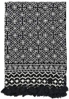 Aniza Nah Hand-embroidered Wool Throw