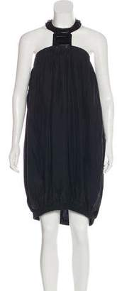 Lanvin Silk Halter Dress