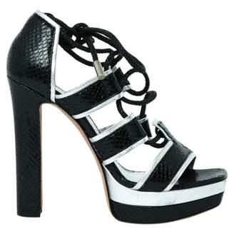Alexander McQueen Black Leather High Heel