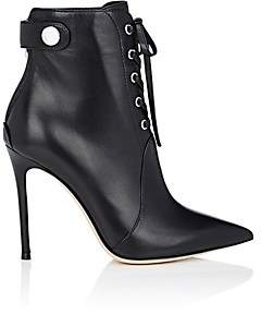 Gianvito Rossi Women's Lace-Up Ankle Boots-Black