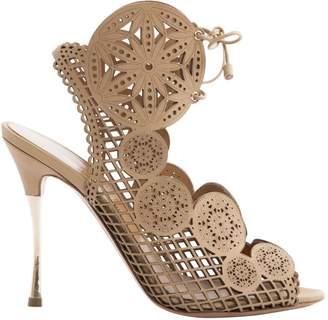 Nicholas Kirkwood Beige Leather Sandals