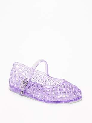 Old Navy Basket-Weave Jelly Sandals for Toddler Girls